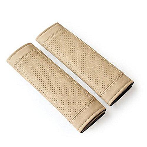 Encell PU Car Seat Belt Cover Shoulder Pad,Beige