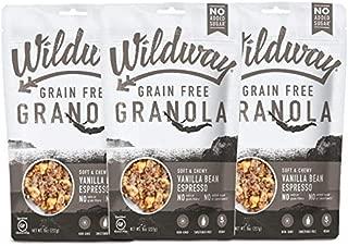 product image for Wildway Vegan Granola | Vanilla Bean Espresso Granola | Certified Gluten Free Granola Breakfast Cereal, Low Carb Snack | Paleo, Grain Free, Non GMO, No Added Sugar | 8oz - 3 pack