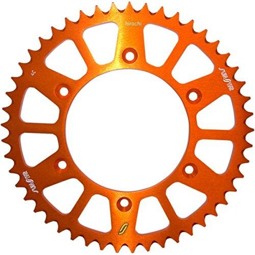サンスター SUNSTAR リア スプロケット 48T/520 90年以降 KTM、フサベル アルミ オレンジ 1211-1336 5-354748OR   B01M2VGAO0