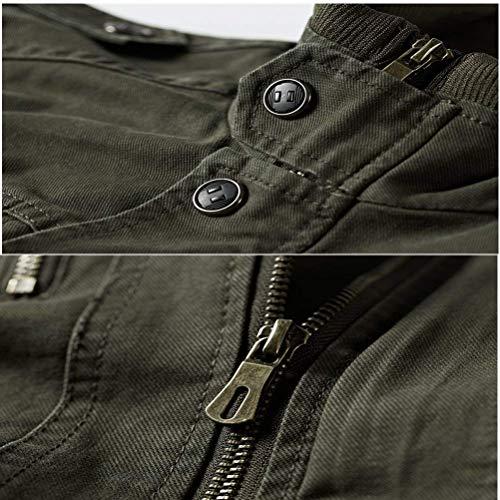 Peso Ocio Collar Hombres Outwear para Ligero Battercake Algodón Cómodo De Soporte Armygrün Chaquetas De Ntel De Otoño Bomber Exterior Hombres Hombre Los Los De del Chaquetas nCad0aqwB