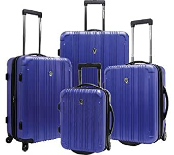 New Luxembourg 4 Piece Luggage Set Color: Blue