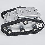 6 axis robot arm - KOOKYE Robot Car Chassis Smart Tank Platform Metal Stainless Steel 2DW Motor 9V for Arduino / Raspberry Pi DIY(TR300)