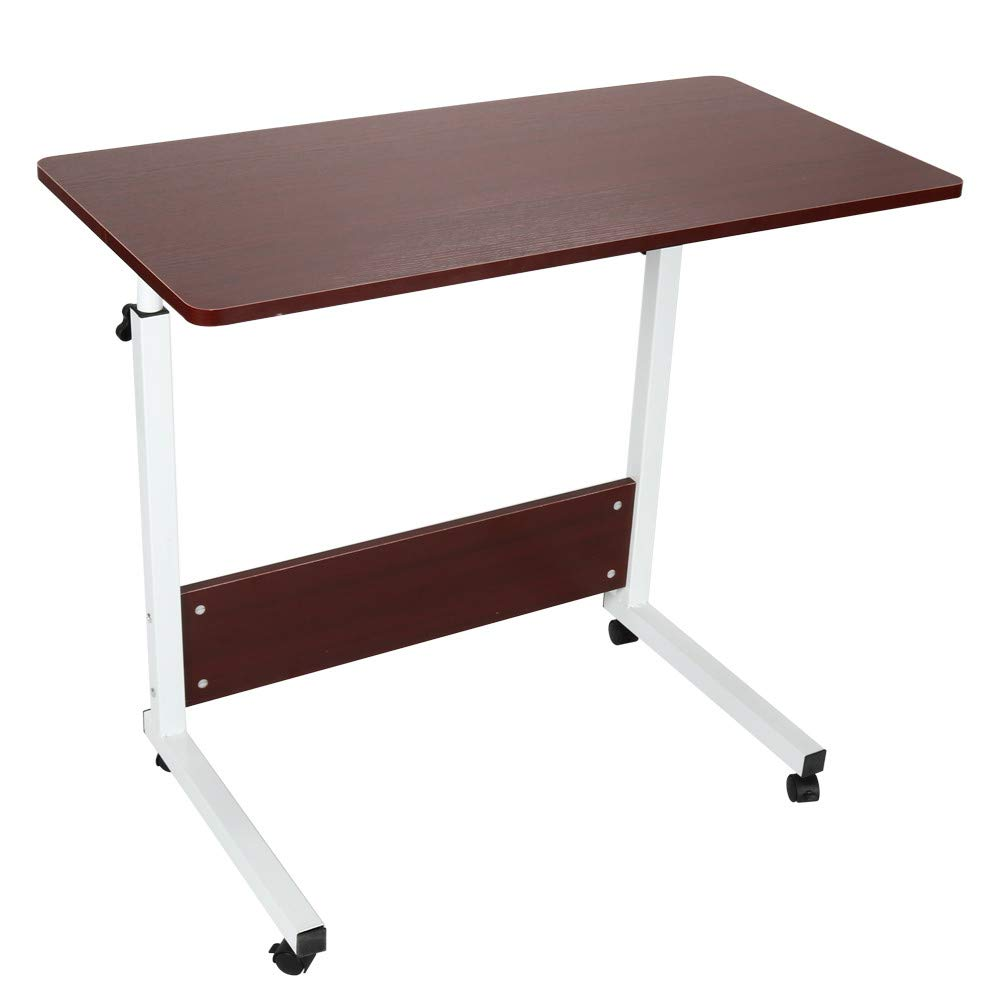 Computer Desk, XEDUO Home Can Be Raised and Lowered Mobile Computer Desk 80cm50cm Red