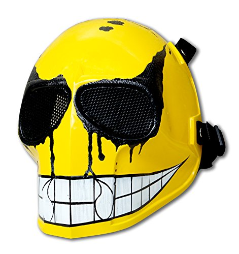 [Invader King Airsoft Mask Army of Two Protective Gear Outdoor Sport Fancy Party Ghost Masks Bb Gun (Yellow] (Smiley Movie Mask)