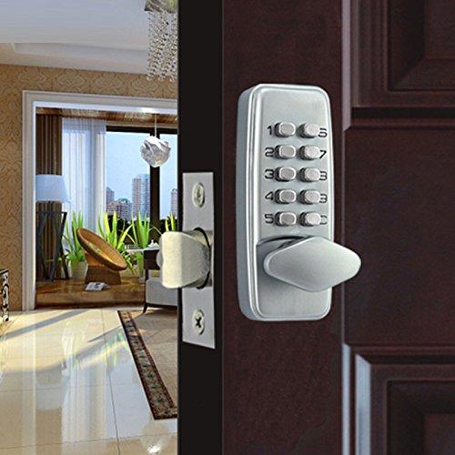 Keyless Entry Door Lock, Waterproof Mechanical Exterior Combination Lock with Digital Code Keypad for Front Door, Exterior Doors, Home and Office