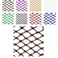 Nylon Net Child Safety Net Protective Net Balcony Stairs Anti-Fall Net Decorative Net Fence Network Truck Cargo Trailer Netting Net Mesh Nets,Width 1/4M Length 1M /9M,Brown