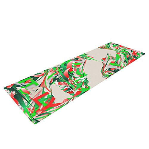 Kess InHouse Danny Ivan Italy Yoga Exercise Mat, World Cup, 72 x 24-Inch by Kess InHouse
