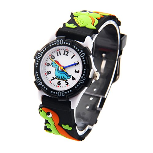Children Cartoon Teaching Watch Waterproof Silicone Band Wristwatch