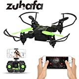 Zuhafa Z2HC Mini Foldable RC Drone FPV VR Wifi RC Quadcopter Remote Control Drone with HD 720P Camera RC Helicopter black