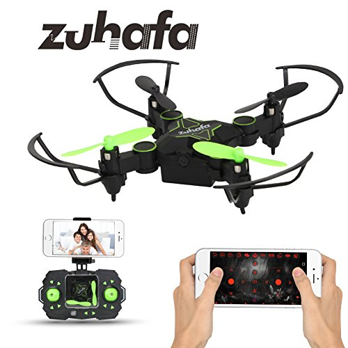 Zuhafa Z2HC Mini Foldable RC Drone FPV VR Wifi RC Quadcopter Remote Control Drone with HD 720P Camera RC Helicopter black by Zuhafa