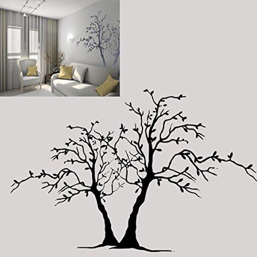11.7 x 16.5 in 297 x 420 mm Pochoir en PVC r/éutilisable Deux arbres Pochoir r/éutilisable A3/A4/A5/et plus grandes tailles D/écoration murale style shabby chic//T3 A3 size
