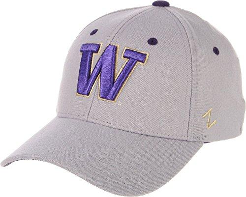 Zephyr Men's Washington Huskies Grey Wool Fitted Hat - L