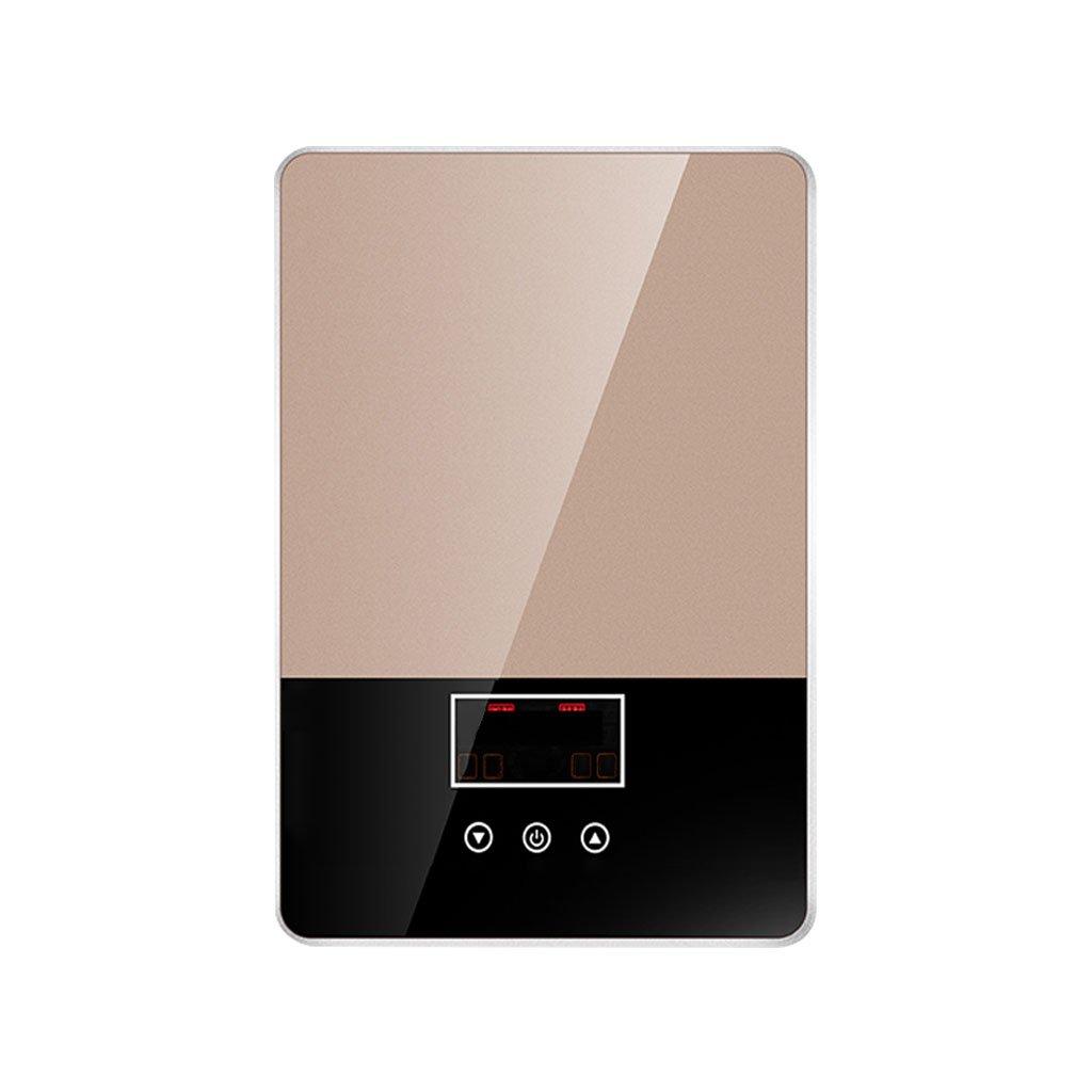 Cqq Chauffe-eau Chauffe-eau électrique instantané, thermostat à la maison en acier inoxydable tuyau d'eau chaude 3 secondes Chauffe-eau, petit chauffe-eau électrique régénératif sans eau, à la maison,