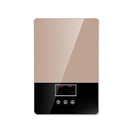 Calentador de agua eléctrico instantáneo, termóstato casero Calentador de agua eléctrico de acero inoxidable 3