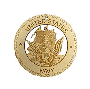 US NAVY Ornament - Navy Ornaments - Navy Gifts - Navy Decor - Military Gift - Engraved Ornament