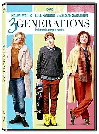 amazon com 3 generations dvd naomi watts elle fanning susan