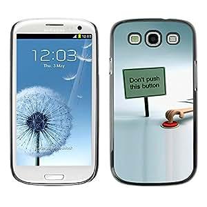 Stuss Case / Funda Carcasa protectora - Stop The Red Button - Samsung Galaxy S3