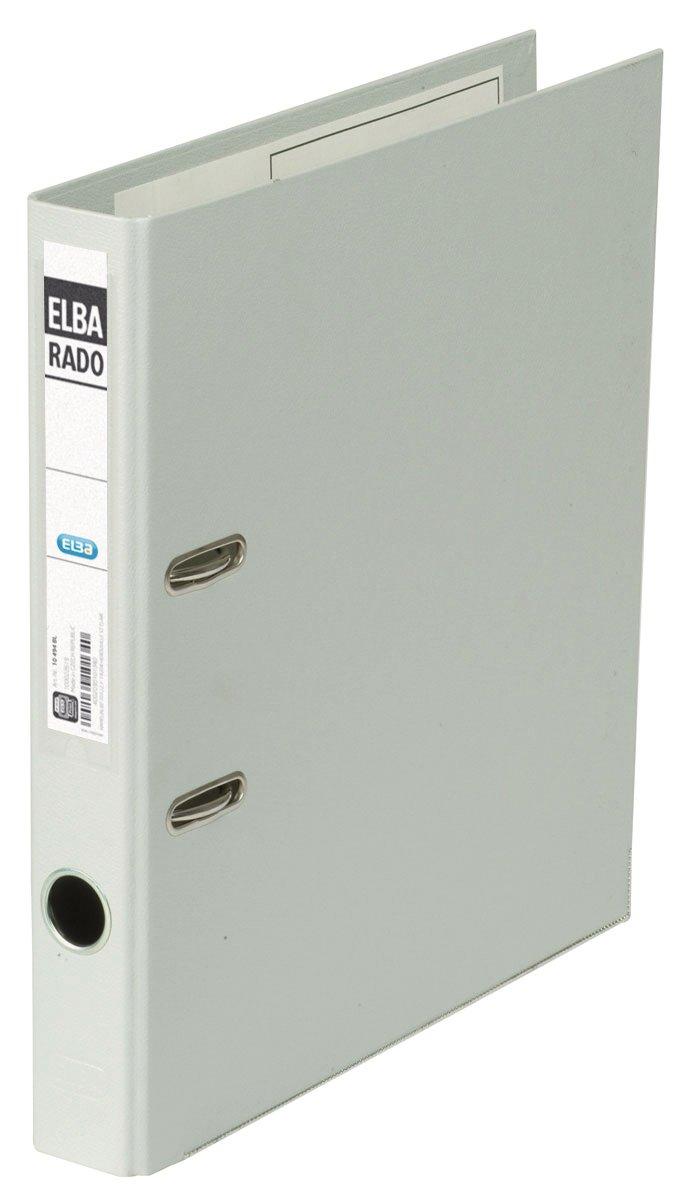 Elba Rado Plast 10494GR - Archivador (A4, 5 cm, etiquetas reemplazables, 20 unidades), color gris: Amazon.es: Oficina y papelería