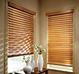 Blinds Emporium Golden Oak 2' Real Wood Blind 45' x 64' (Actual Size 44 1/2' x 64')