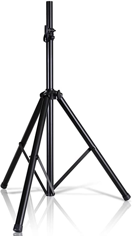 """Pyle Universal Speaker Stand Mount Holder Heavy Duty Tripod w/ Adjustable  Height from 9"""" to 9"""" and 9mm Compatible Insert Easy Mobility Safety Pin"""