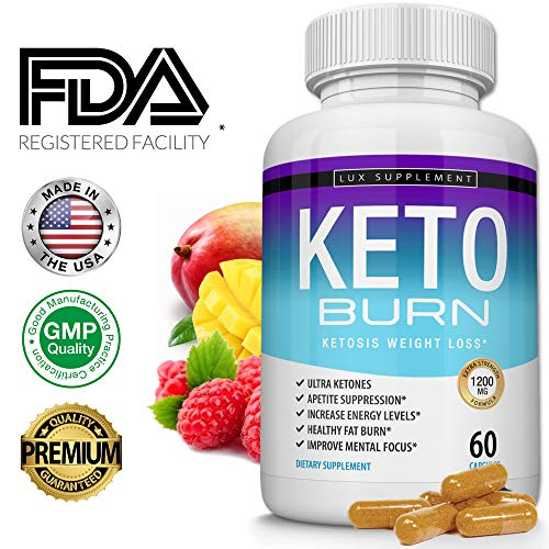Lux Supplement Keto Burn Pills Ketosis Weight Loss– 1200 Mg Ultra Advanced Natural Ketogenic Fat Burner Using Ketone Diet, Boost Energy Focus & Metabolism Appetite Suppressant, Men Women 60 Capsules from Lux Supplement