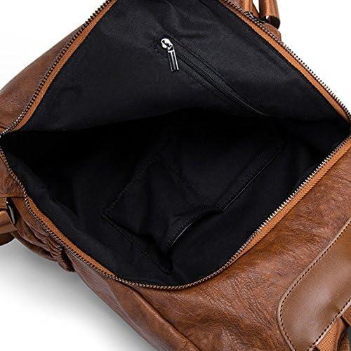 女性本物のレザーマルチファンクションハンドバッグソフトバックパックショルダーバッグ YZUEYT