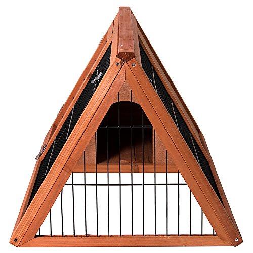 Bunny Guinea Pig Cage Animal House Enclosure Outdoor Run Pet Vida Wooden Pet Rabbit Hutch Triangle Large