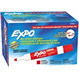 Expo Low-Odor Dry Erase Markers, Bullet Tip,Red, 24-Count