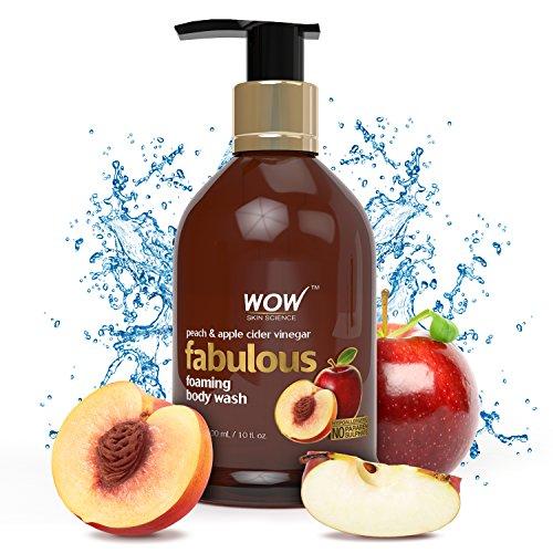 WOW Peach Apple Cider Vinegar No Parabens Sulphates Shower Gel, 300mL