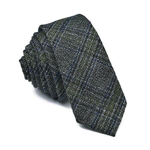 VOBOOM Mens Necktie Skinny Tie Tweed Pattern Woolen Neck Tie-many colors (007) (Neck Tweed Jacket)