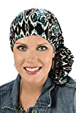 Slip-On Slinky Pre-Tied Head Scarf: Scarves for Cancer Patients, Chemo Black Tribal offers