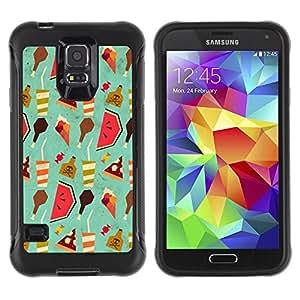 Paccase / Suave TPU GEL Caso Carcasa de Protección Funda para - Wallpaper Art Drink Watermelon Food Ice Cream - Samsung Galaxy S5 SM-G900