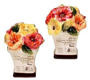 Le Fleur Poppies Ceramic Salt & Pepper Set
