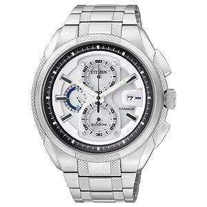 Citizen CA0200-54B - Reloj para Hombres, Correa de Titanio Color Plateado 11