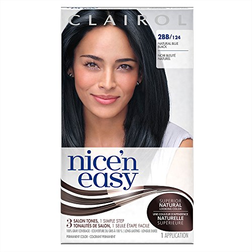 Clairol Nice 'n Easy Hair Color 124/2BB Blue Black 1 Kit (Pack of 3) (PACKAGING MAY VARY) (1 Black)