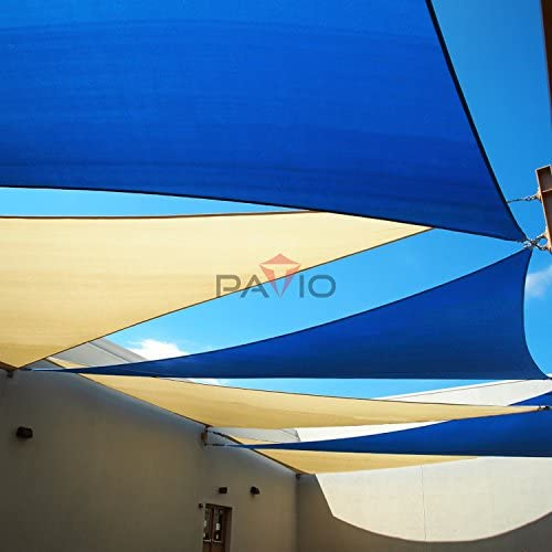 Patio Paradise Sun Shade Sail 18' x 19' x 26.2' Right Triangle Canopy