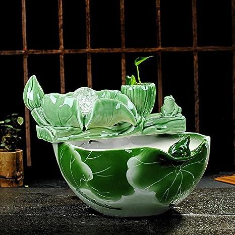 Swdg El Agua es el Salón de decoración cerámica humidificador atomización Zhaocai Acuario decoración, Escritorio 35 * 26cm.: Amazon.es: Hogar