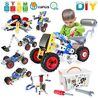HISTOYE STEM Toys Kits 10 in 1 Educational Engineering Building Blocks Set Toys for Boys and Girls Motorized Construction Science Robot Kit Best Gifts for 5 6 7 8 9+ Year Old