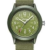 INFANTRY Mens Army Military Field Analog Watch Green Nylon Quartz Wrist Watches