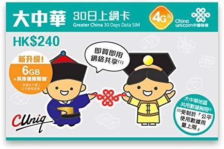 China Unicom - China, Hong Kong, Macau, Taiwan 3G/4G Prepaid (Solo datos): Amazon.es: Electrónica