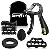 GRM Counting Hand Grip Strengthener Forearm Grip Workout Kit,...