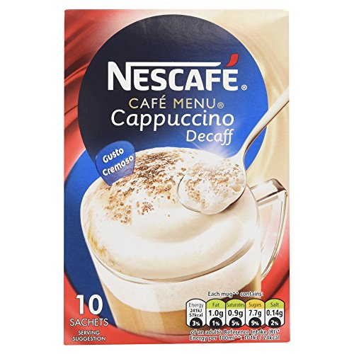 (Nescafe Gold Cafe Menu Cappuccino Decaff Instant Coffee)