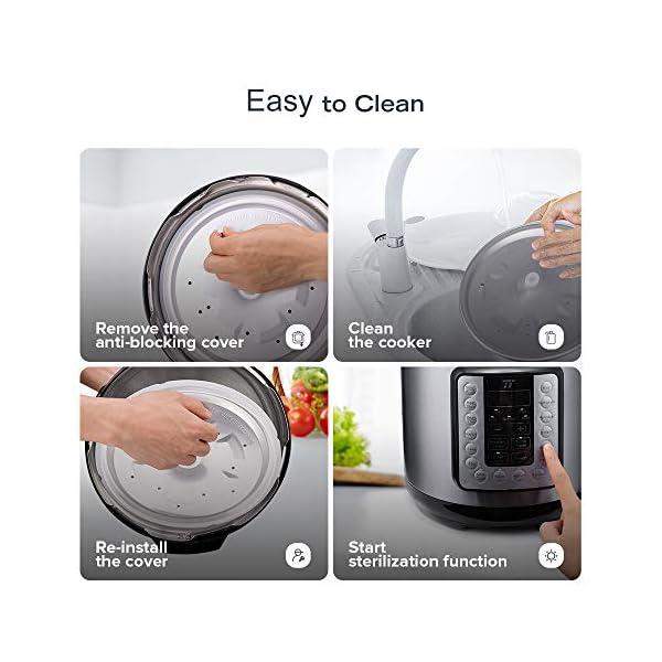 TaoTronics TT-EE006 Electric Pressure Cookbook 6QT, 10-in-1 Multi-Use, 16 Programs, Slow, Rice Cooker, Steamer, Sauté… 7