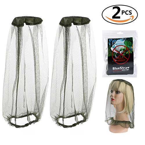 Insect Head Net Mesh Protective Cover Mask Face Anti-mosquito Bee Bug Insect Fly Mask Hat For Beekeeping Beekeeper Outdoor Fishing (2pcs)