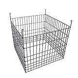 "MTB Garden Wire Compost Bin 36"" L x36 W x 30"" H, Black"