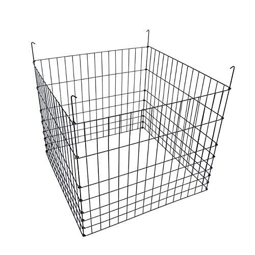MTB Garden Wire Compost Bin 36x36x30 inches, Black, Garden Bed Fencing from MTB