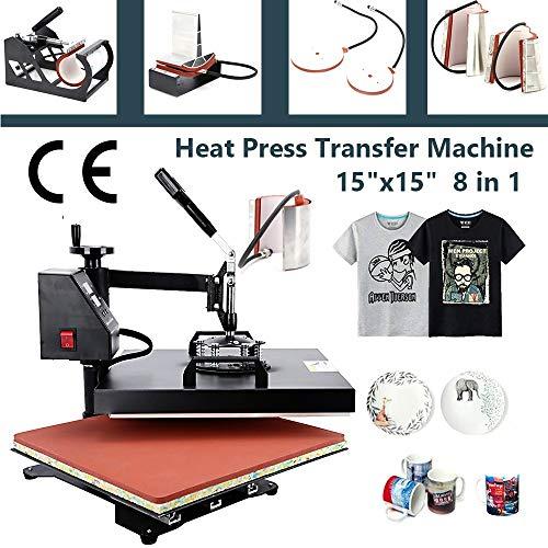 8 in 1 heat press machine 15x15 - 7