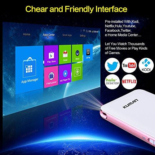 Pocket pico mobile projector kuman mini smart android pro for Pocket pico mobile projector