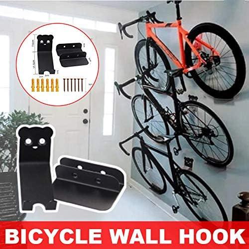Liamostee Bicycle Wall Metal Bracket Hook Road Mountain Bike Wall Hanging Bicycle Rack Holder