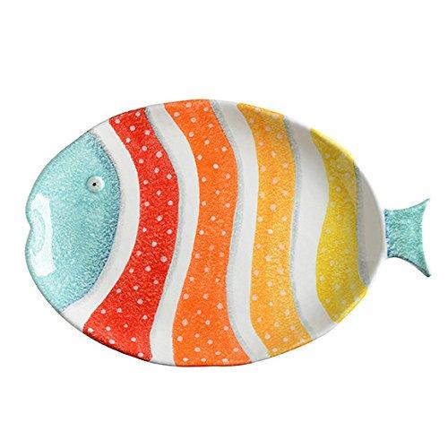 (Porto Venere Fish - Italian Dinnerware - Oval Platter - Handmade in Italy)